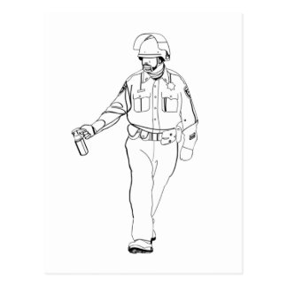 Casual Pepper Spray Cop Postcard