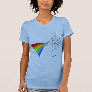 Casual Pepper Spray Cop Rainbow T-shirt
