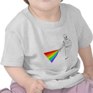 Casual Pepper Spray Cop Rainbow Tshirt
