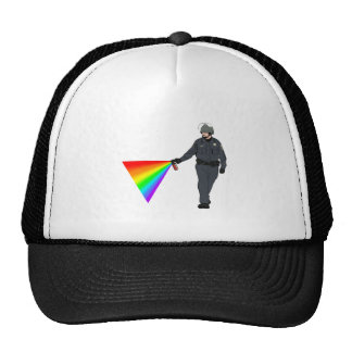 Casual Pepper Spray Cop Rainbow With Color Mesh Hats