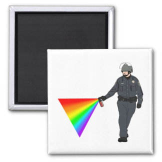 Casual Pepper Spray Cop Rainbow With Color Magnet