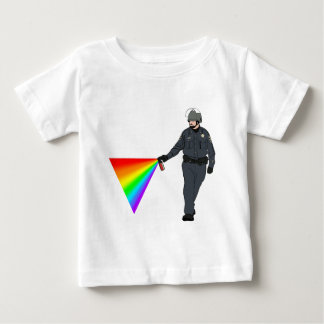 Casual Pepper Spray Cop Rainbow With Color Shirt