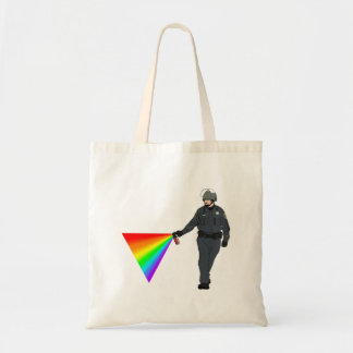 Casual Pepper Spray Cop Rainbow With Color Tote Bag