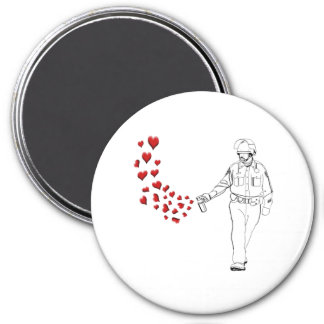 Casual Pepper Spray Cop with Hearts Magnet