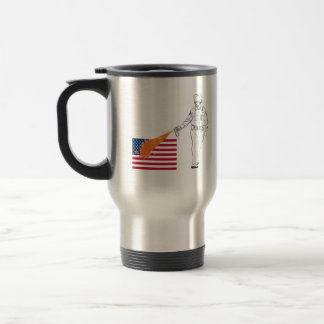 Casual Peppery Spray Cop with Flag Mugs