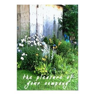 Casual Rustic Backyard Garden Wedding Card