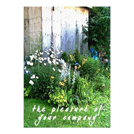 Rustic Backyard Wedding Invitations : Casual Rustic Backyard Garden Wedding 5×7 Paper Invitation Card