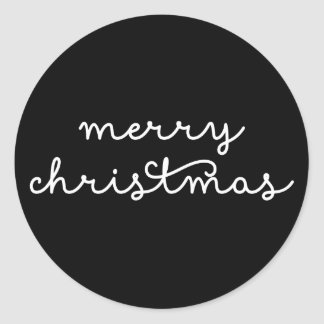Casual Script Christmas Holiday Round Sticker