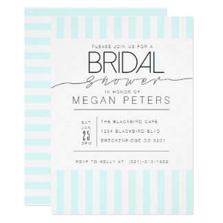 Casual Script | Modern Mint Bridal Shower Card