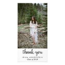 Casual Simple Graduate Thank You Card