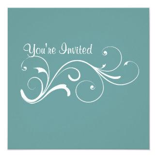 Casual Swirl Invitation
