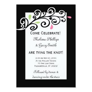 "Casual Swirls 5"" X 7"" Invitation Card"