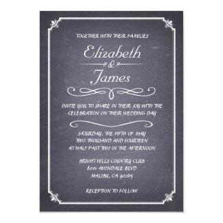 Casual Vintage Chalkboard Wedding Invitations