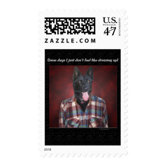 Casual wear postage stamp