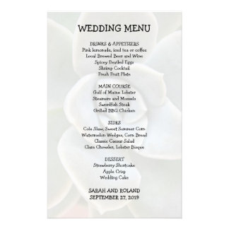 Casual Wedding Menu Succulent Image