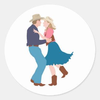 Casual Western Wedding Reception Round Stickers