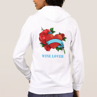 CASUAL WHITE WINE LOVER HOODIE