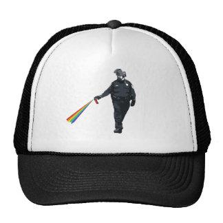 casually pepper spraying cop trucker hat
