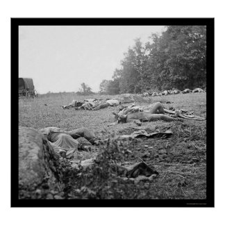 Casualties During the Battle of Gettysburg 1863 Poster