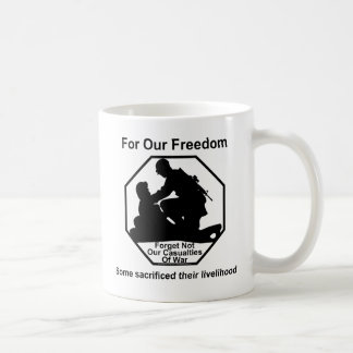 Casualties of war. coffee mug