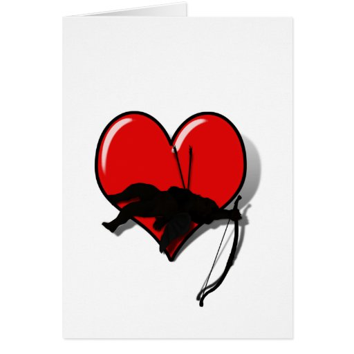 Casualty of Love (1) card Greeting Card