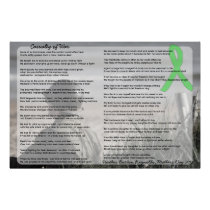 Casualty of War, Poem by a Lyme Patient Poster
