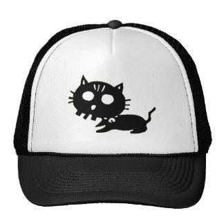 Cat 髑 髏 CAT SKULL cutting picture Trucker Hat
