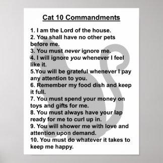 Cat 10 Commandment print