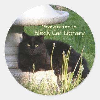 Cat 120 Bookplate~ sticker