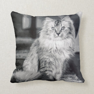 Cat 1 throw pillow