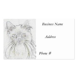 Cat #  2  Sketch,  Business Card