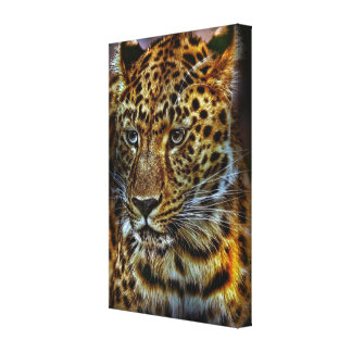 cat-301154 WILD BIG CAT LEOPARD ANIMAL PHOTOGRAPHY Stretched Canvas Print