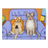 Cat 366 funny Cats Card