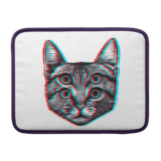 Cat 3d,3d cat,black and white cat MacBook sleeve