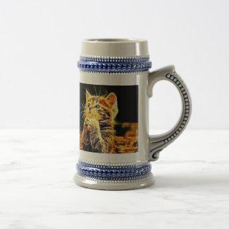 Cat 3d artworks beer stein