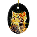 Cat 3d artworks ceramic ornament
