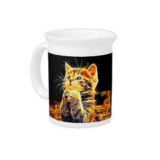 Cat 3d artworks drink pitcher
