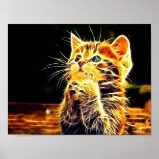 Cat 3d artworks poster