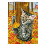 Cat 440 fall autumn Greeting Card