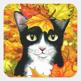 cat 447 square sticker