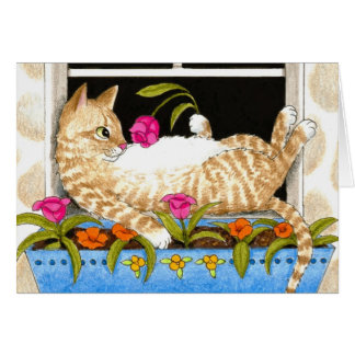 Cat 451 funny Greeting Card