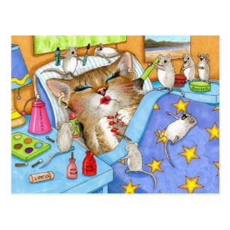 Cat 508 funny Postcard