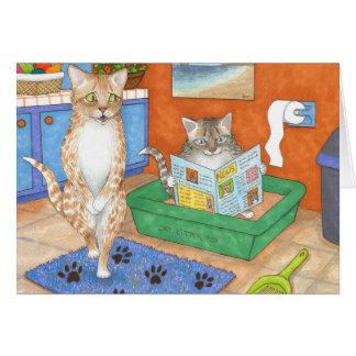 Cat 538 greeting card