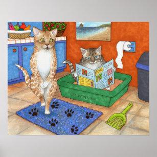 Cat Bath Art Wall Decor Zazzle