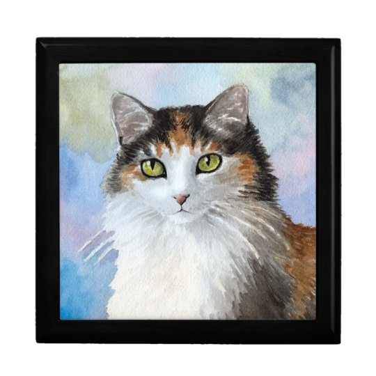 Cat 572 Calico Large Gift Box
