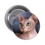 Cat 578 Sphynx 2 Inch Round Button