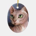 Cat 578 Sphynx Christmas Tree Ornament