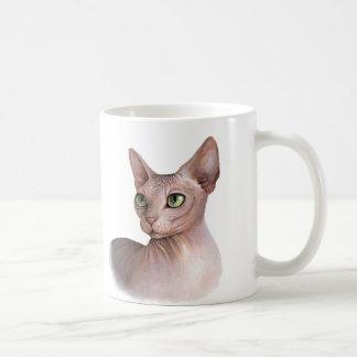Cat 578 Sphynx white background Coffee Mug