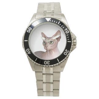 Cat 578 Sphynx white background Watches