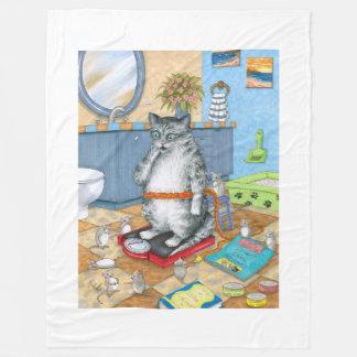 Cat 579 fleece blanket